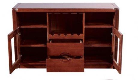 复古胡桃木中式柜子图片