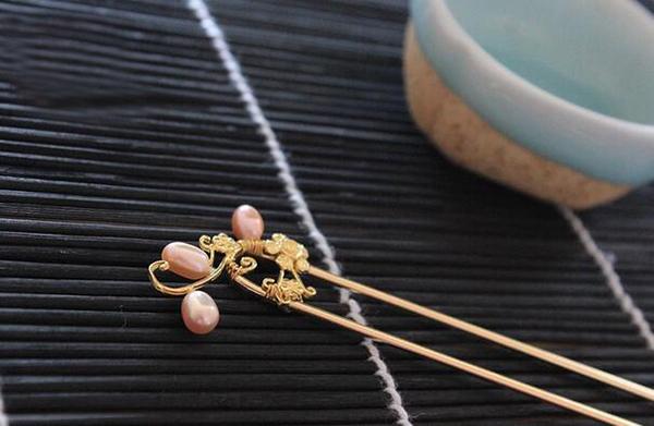 中国风发簪  珍珠发簪发钗