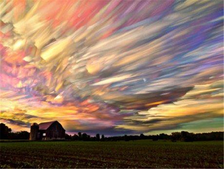 彩绘图片,用相机彩绘天空
