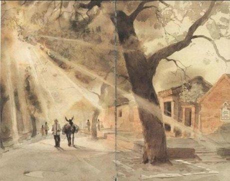 水彩画家关维兴《城南旧事》儿