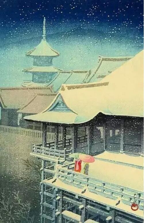 绘本中的亭台楼阁古风图片