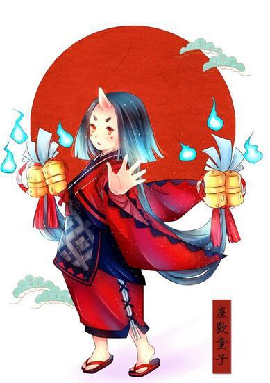 阴阳师式神座敷童子同人画壁纸