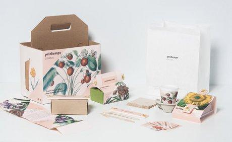 春天风外卖盒包装设计图
