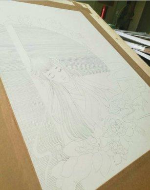 超细致的古风水彩女子绘画教程