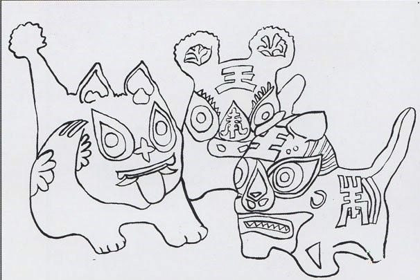民间工艺布老虎的彩绘步骤