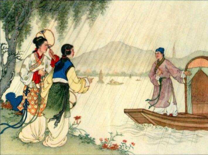 中国风白蛇传奇,白蛇传绘本插画