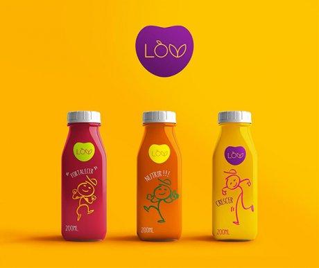 果蔬汁包装设计图,创意果蔬产