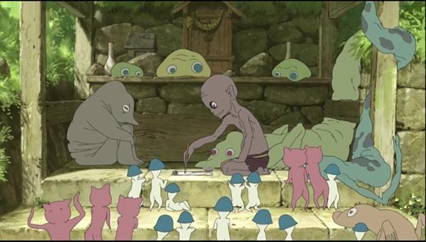 动漫图片,《给桃子的信》女主与三只妖怪