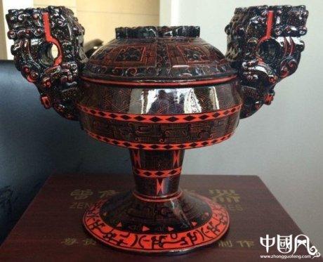 精致的汉代漆器仿古工艺品
