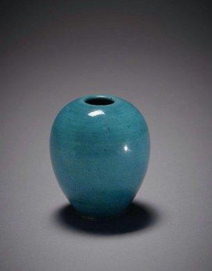 清康熙孔雀蓝釉瓷器