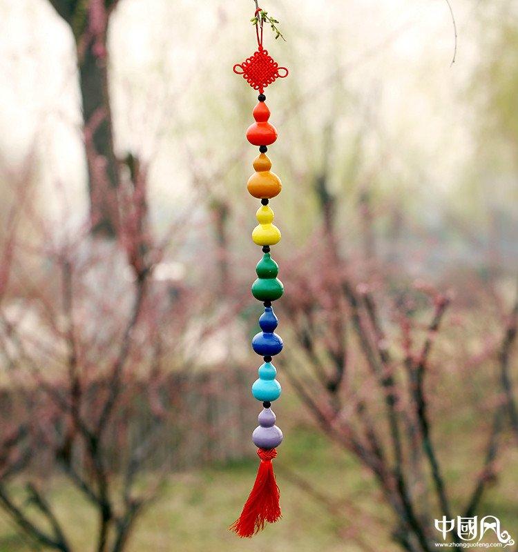 七彩彩绘葫芦工艺品
