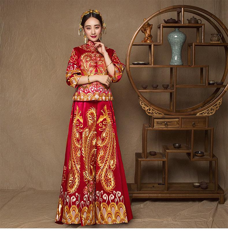 超气质的传承刺绣中式礼服