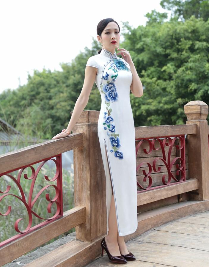 改良中国风发现旗袍之美,复古中式旗袍