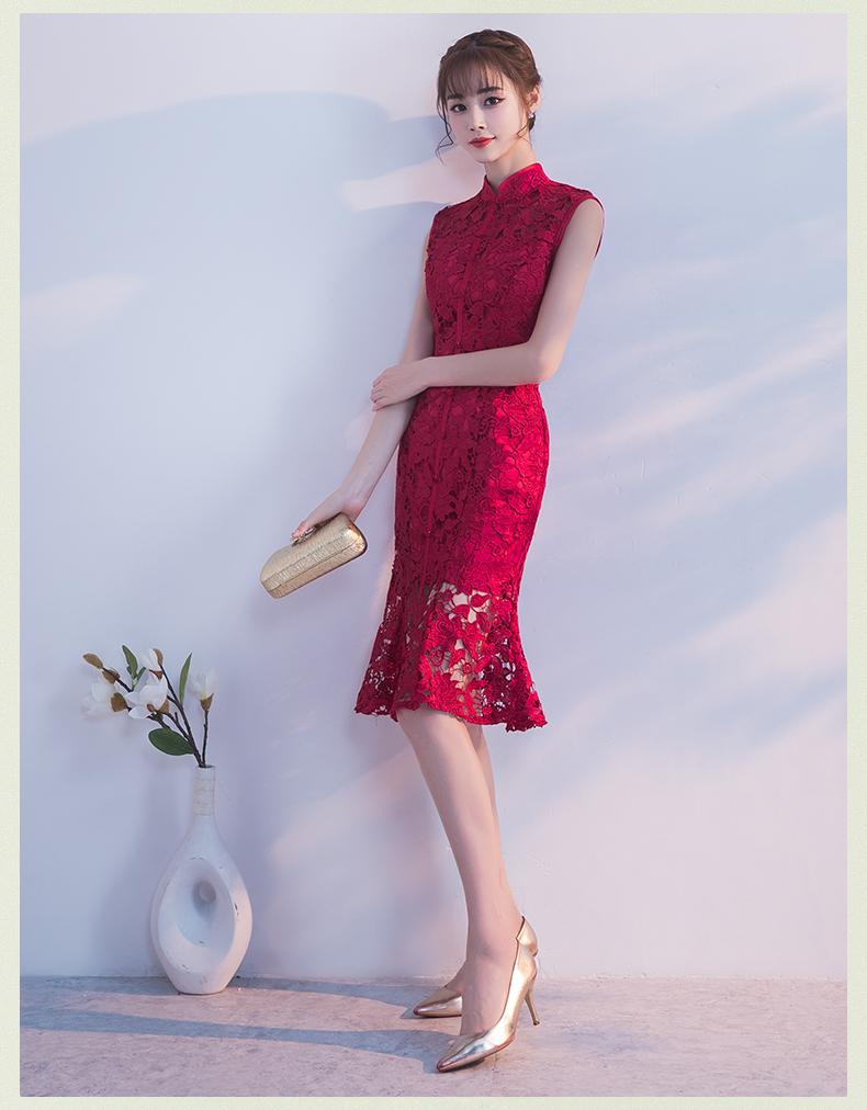 蕾丝旗袍之美