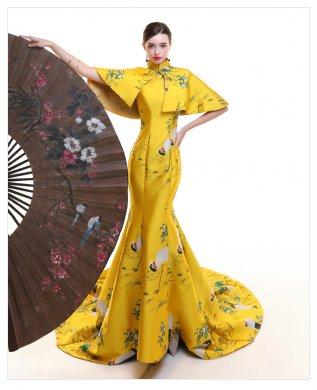 高贵优雅的鱼尾旗袍礼服《一》