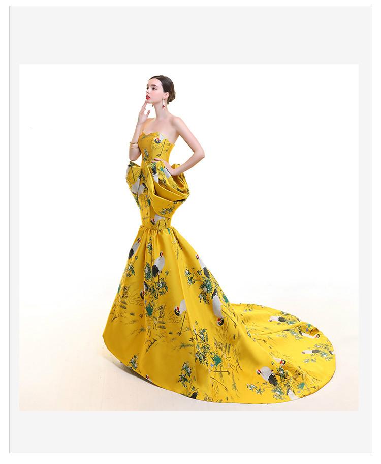 高贵优雅的鱼尾旗袍礼服《二》