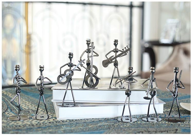 简约可爱的铁艺乐队抽象艺术铁艺品