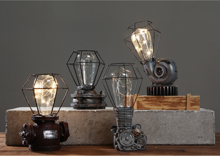 复古怀旧创意电灯铁艺