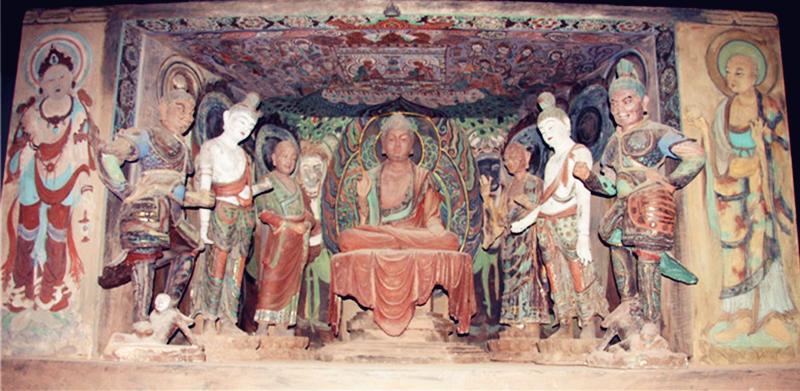敦煌石洞彩塑佛像(1)