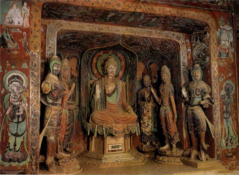 敦煌石洞彩塑佛像(2)