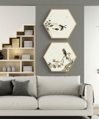 中式禅意创意六边形装饰