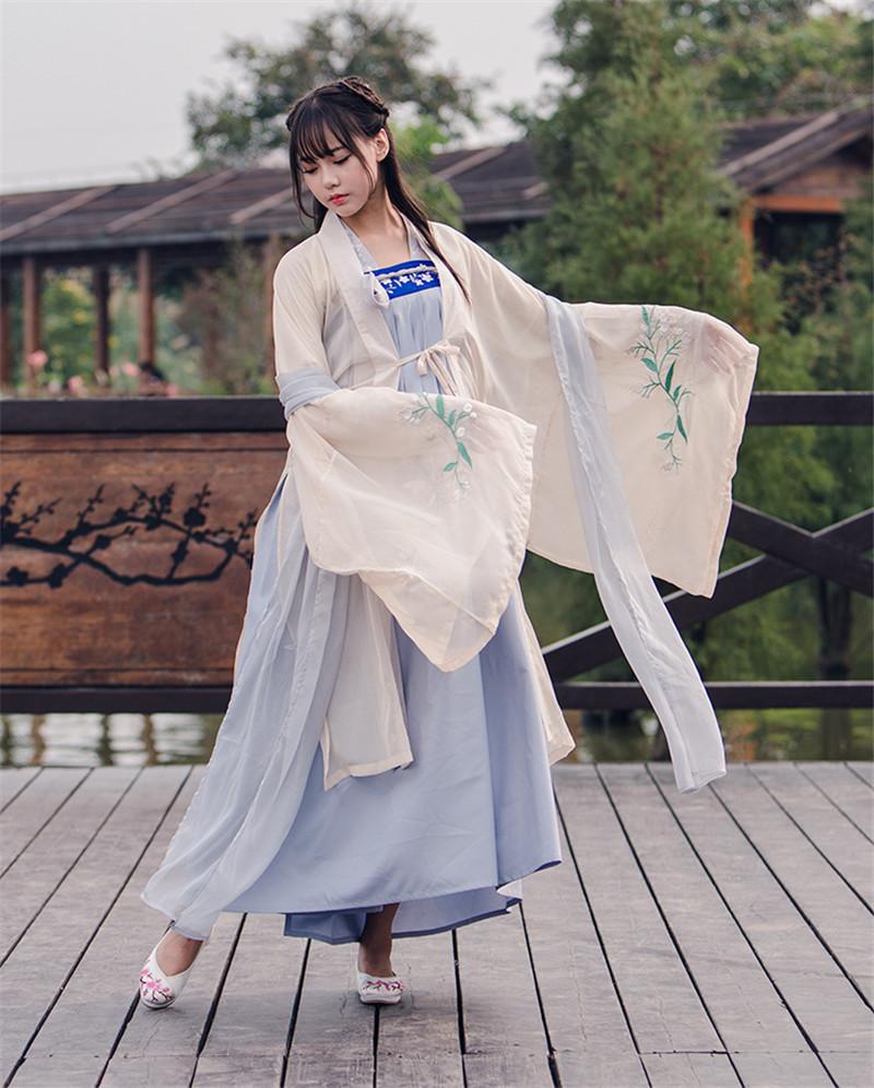 汉元素刺绣秋冬装三件套