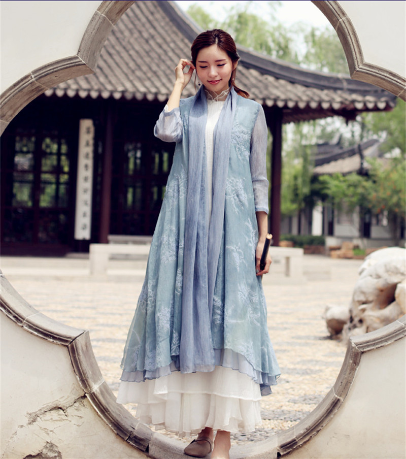 唐装改良汉元素中式禅服