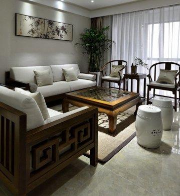 禅意实木新中式沙发 稳稳的享受
