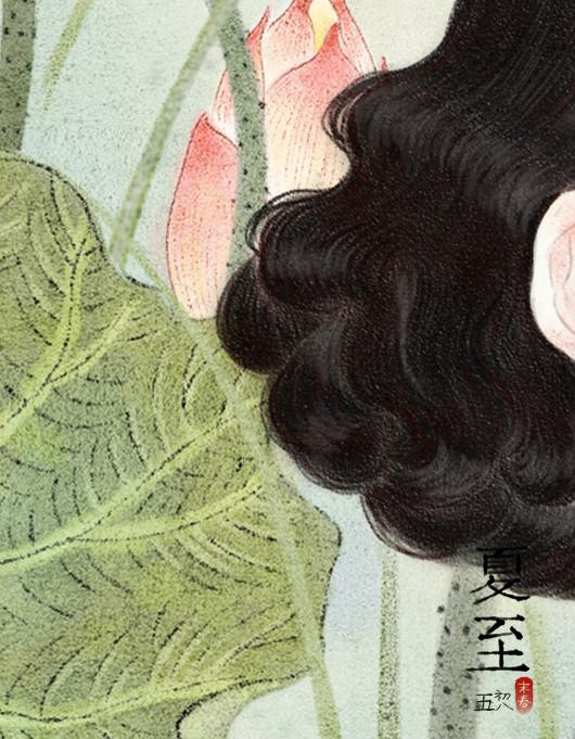 超细致的民国美女手绘插画