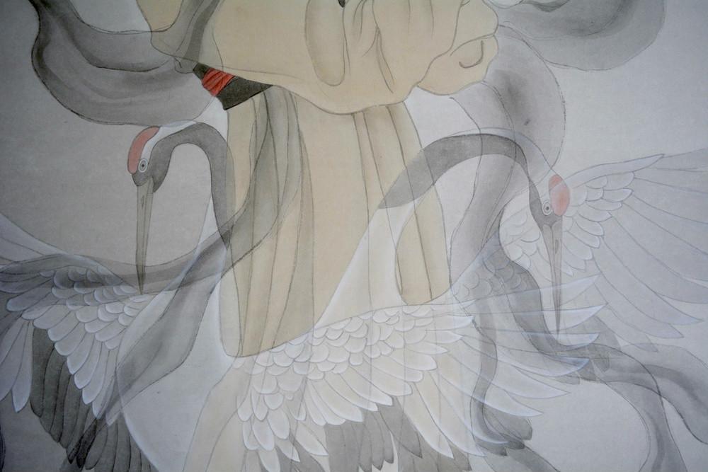 超细致的鹤舞插画欣赏