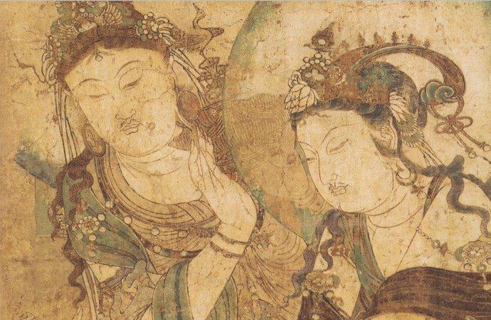 五代慈胜寺彩绘佛像壁画