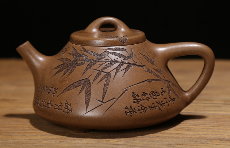 明清代名家紫砂老茶壶老段泥纯手