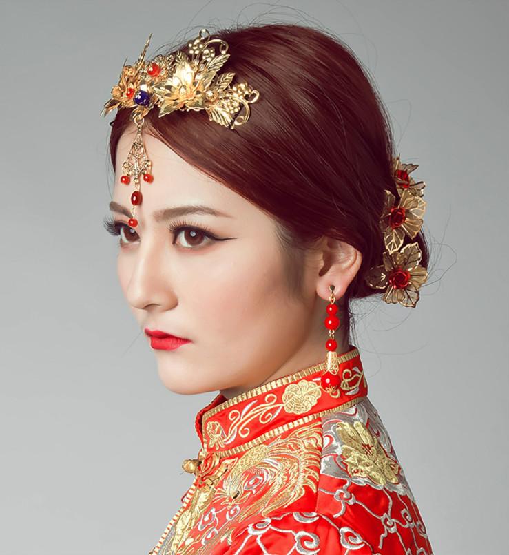 中国风中式新娘头饰