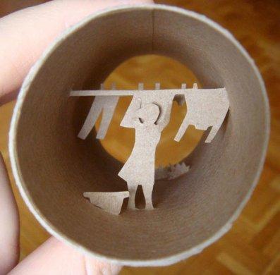 剪纸艺术,纸杯里的时光