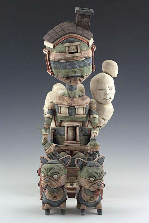 超个性的瓷釉泥塑工艺品