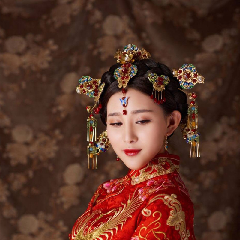 古典发钗步摇中式头饰