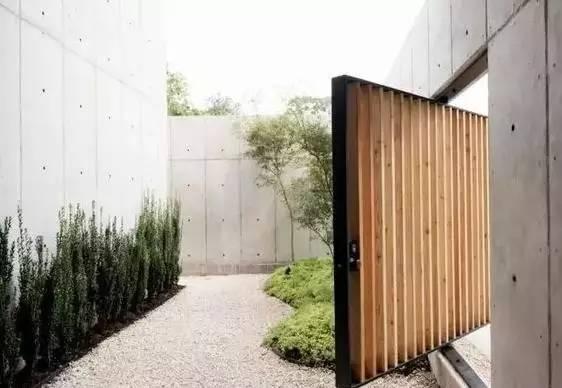 水泥墙朴素寂静的美,庭院设计
