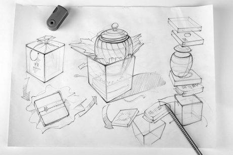 中国风茶叶盒包装设计