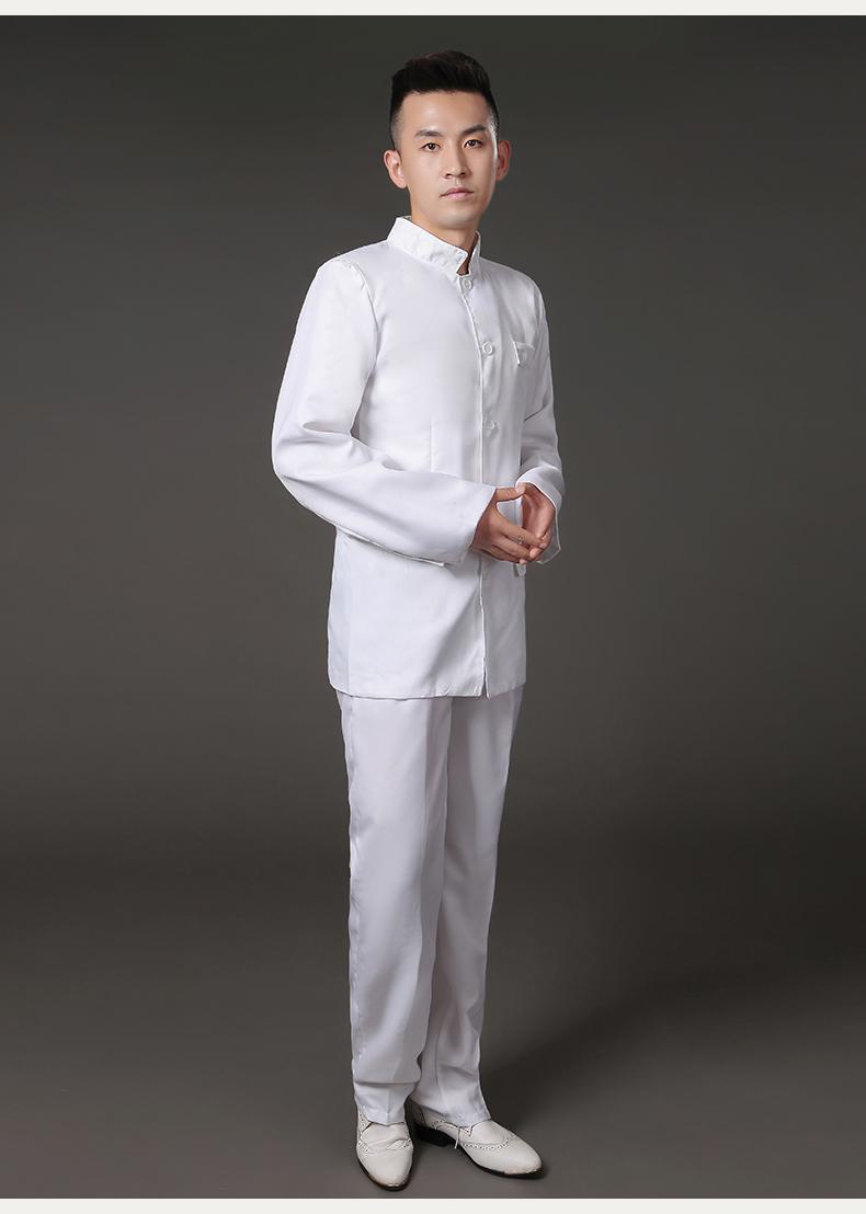 黑白款民国中山装