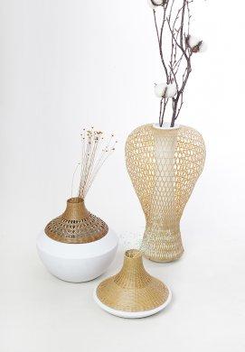 竹编与陶瓷结合的韵味美