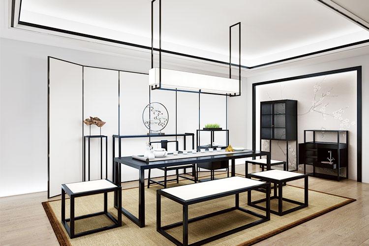 新中式实木仿古茶桌椅组合