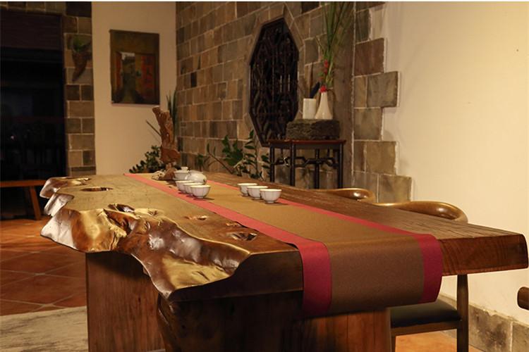 中式实木餐桌泡茶桌功夫茶几