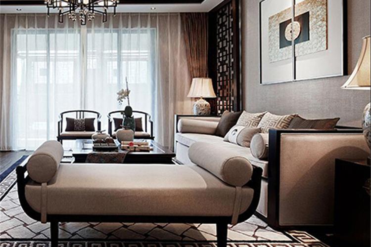 新中式沙发现代简约布艺沙发组合
