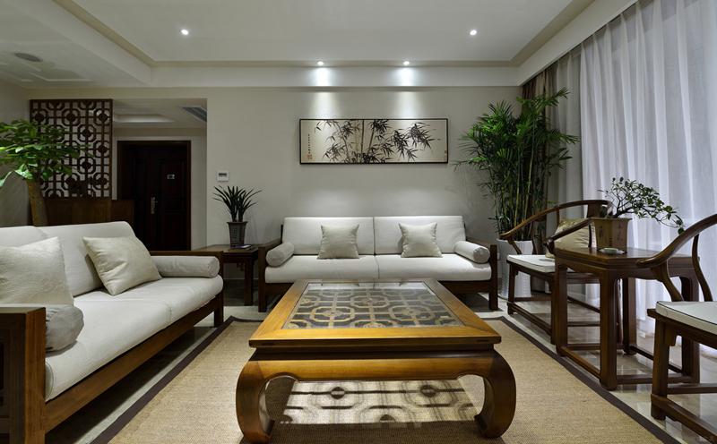 禅意实木高端家具新中式沙发