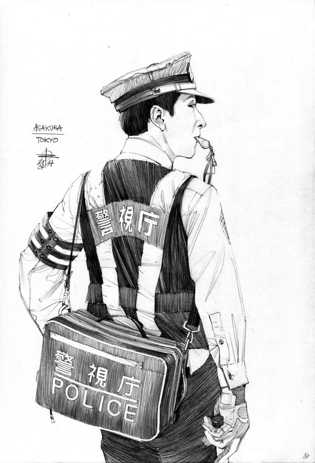 唐朝头饰_一组黑白手绘插画(2)- 中国风