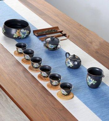 花面立体复古窑变茶具
