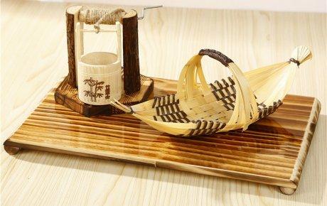小船造型竹编艺术工艺品