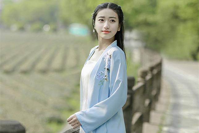 中国风设计刺绣汉元素长款褙子