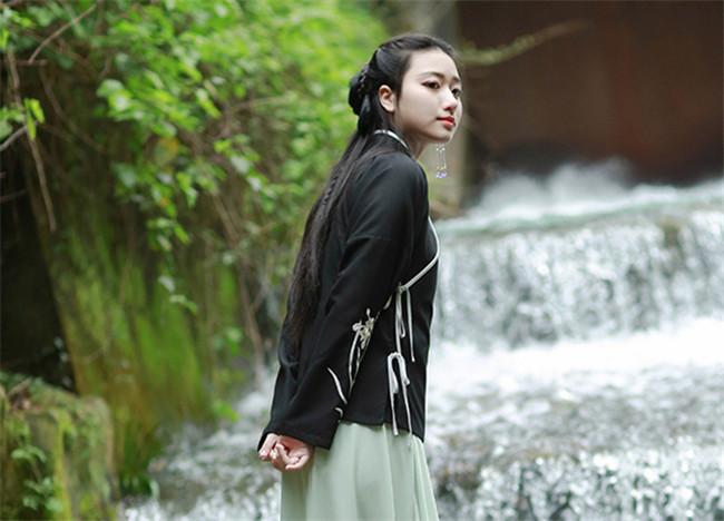 传统汉元素中式上衣,交领中衣