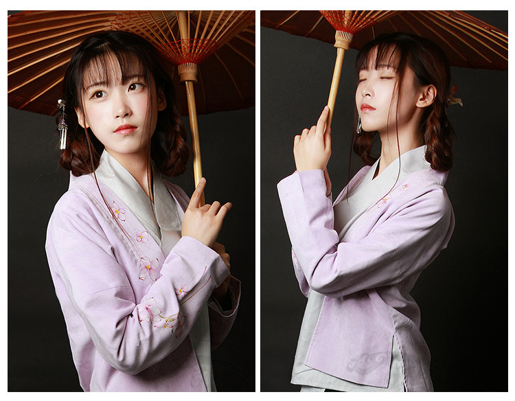 中国风女装手绘日常汉服中式对襟上衣